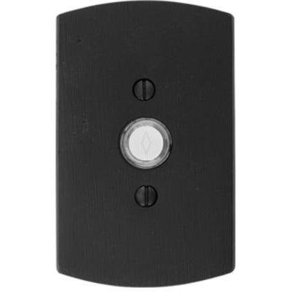 Emtek 2424 #4 Style Bronze Lighted Doorbell Rosette. - Designer Entryway door locks access control intercoms home automation