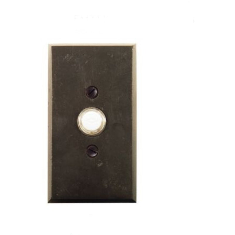 "-Emtek 2423 4-1/2"" Height Rectangular Style Bronze Lighted Doorbell Rosette from the Sandcast Bronze Collection - Designer Entryway door locks access control intercoms home automation"
