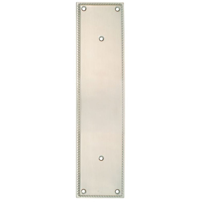 "-Emtek 86082 12"" Height Solid Brass Knoxville Pull Plate from the Designer Brass Collection - Plate Only - Designer Entryway door locks access control intercoms home automation"
