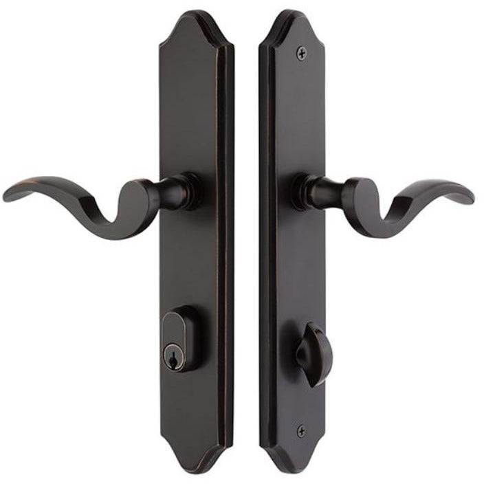 Emtek 7444 Stretto Passage/Single Keyed Sideplate EntrySet. - Designer Entryway door locks access control intercoms home automation