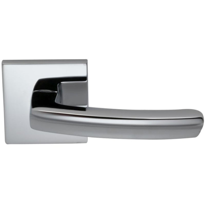 "Omnia 226SSD Single Dummy Door Lever from the Latchset Levers Collection Featuring 2-9/16"" Square Modern Rosette - Designer Entryway door locks access control intercoms home automation"