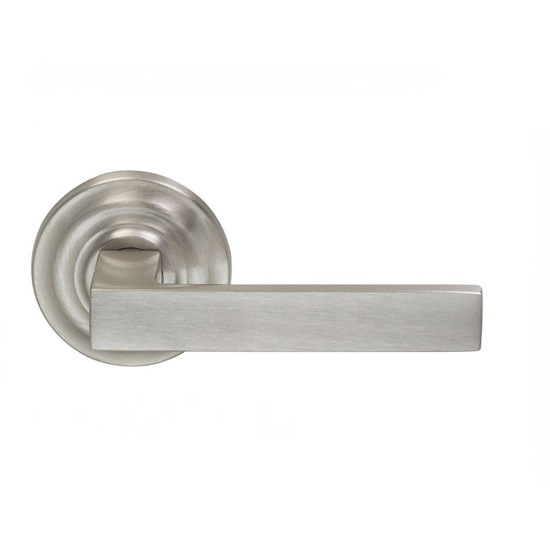 Omnia 930TDSD Square Single Dummy Door Lever with Traditional Style Rose from the Prodigy Collection - Designer Entryway door locks access control intercoms home automation