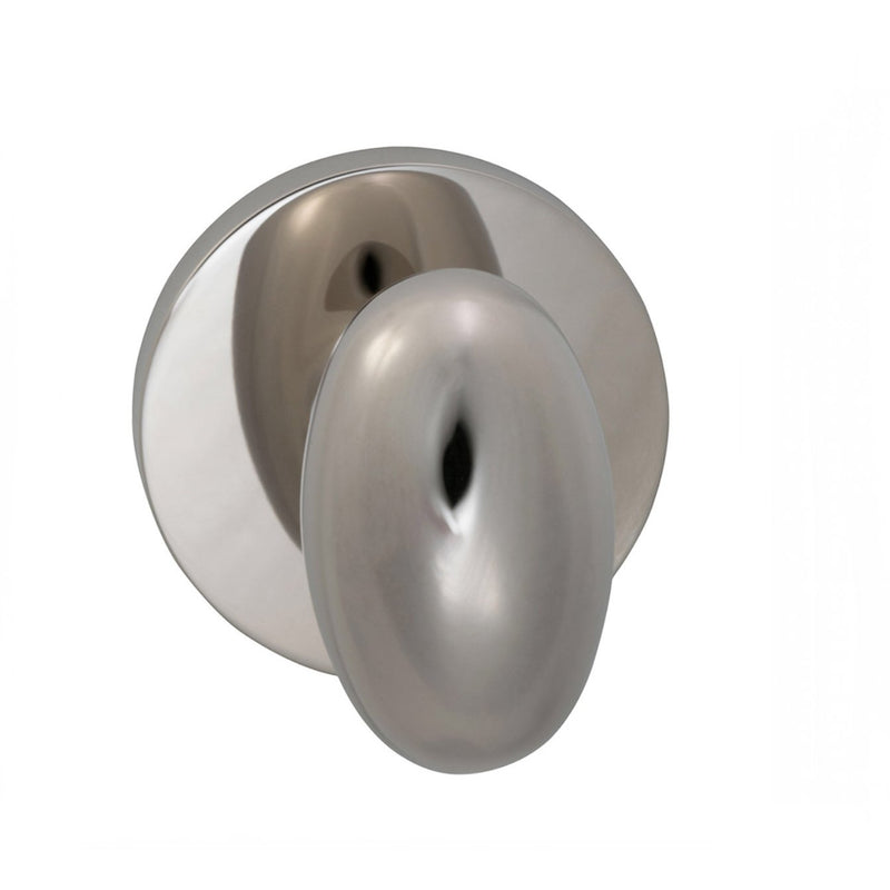 Omnia 434MDPD Dummy Door Knob Set with Egg Knob and Modern Rose from the Prodigy Collection - Designer Entryway door locks access control intercoms home automation