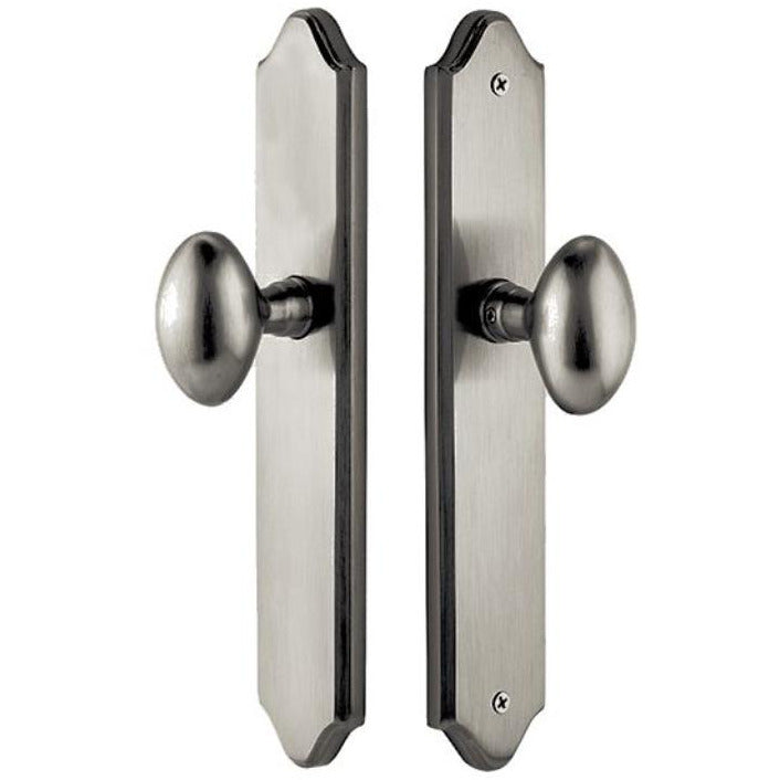 Emtek 7045 10 Inch Stretto Concord Dummy Sideplate Entry Set from the Classic Brass Collection - Designer Entryway door locks access control intercoms home automation