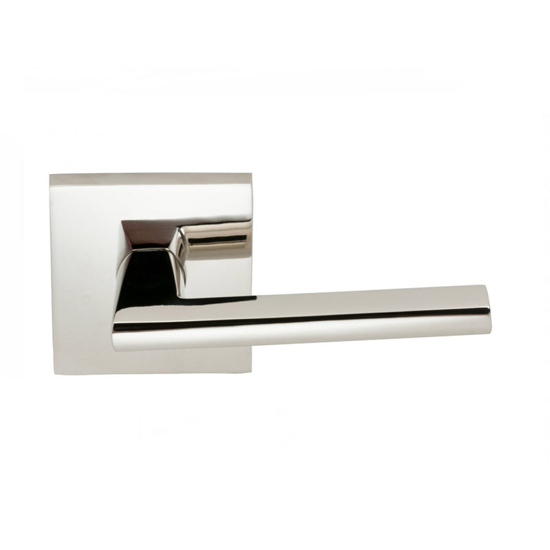 Omnia 925SQPD Wedge Dummy Door Lever Set with Square Style Rose from the Prodigy Collection - Designer Entryway door locks access control intercoms home automation