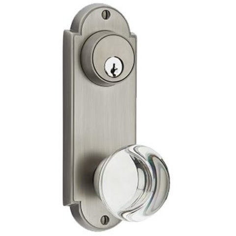 Emtek SC8066 Delaware Series Keyed Entry Set Tall Backplate. - Designer Entryway door locks access control intercoms home automation