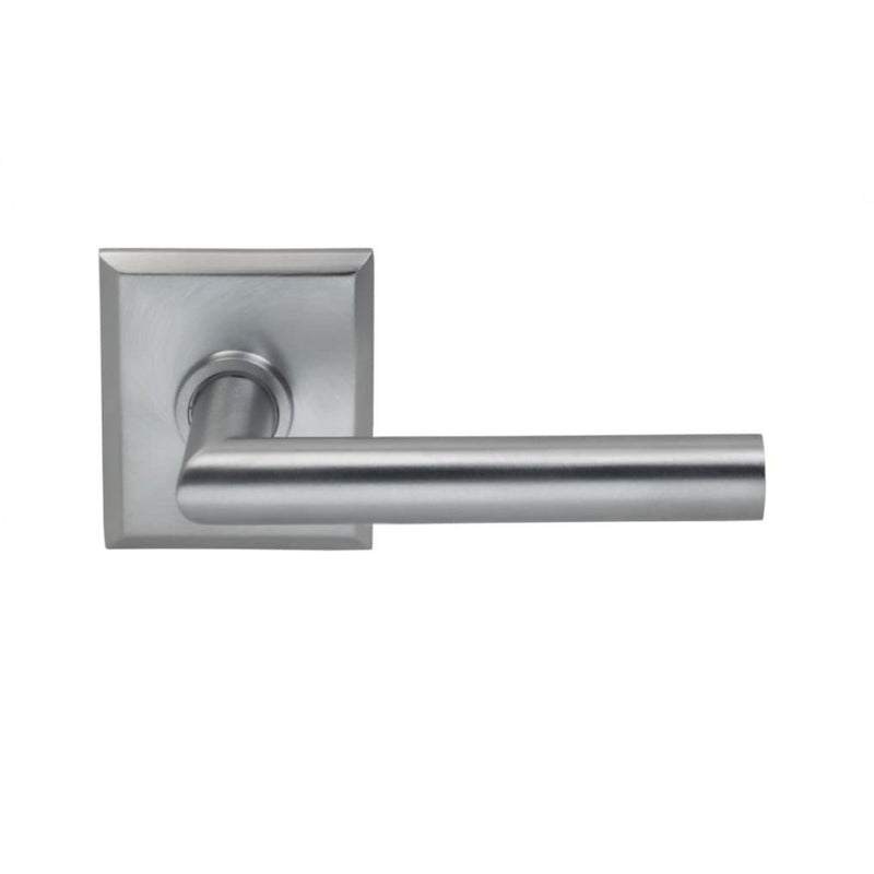 Omnia 912RTPR Privacy Door Lever Set with Modern Lever and Rectangular Rose from the Prodigy Collection - Designer Entryway door locks access control intercoms home automation