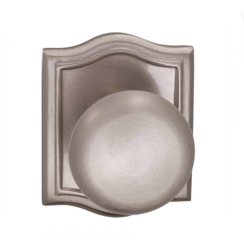 Omnia 458ARPA Passage Door Knob Set with Colonial Knob and Arched Rose from the Prodigy Collection - Designer Entryway door locks access control intercoms home automation