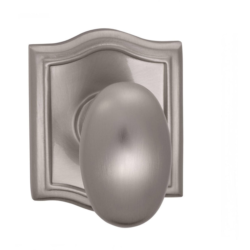 Omnia 434ARPD Dummy Door Knob Set with Egg Knob and Arched Rose from the Prodigy Collection - Designer Entryway door locks access control intercoms home automation