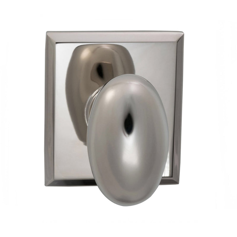 Omnia 434RTPD Dummy Door Knob Set with Egg Knob and Rectangular Rose from the Prodigy Collection - Designer Entryway door locks access control intercoms home automation