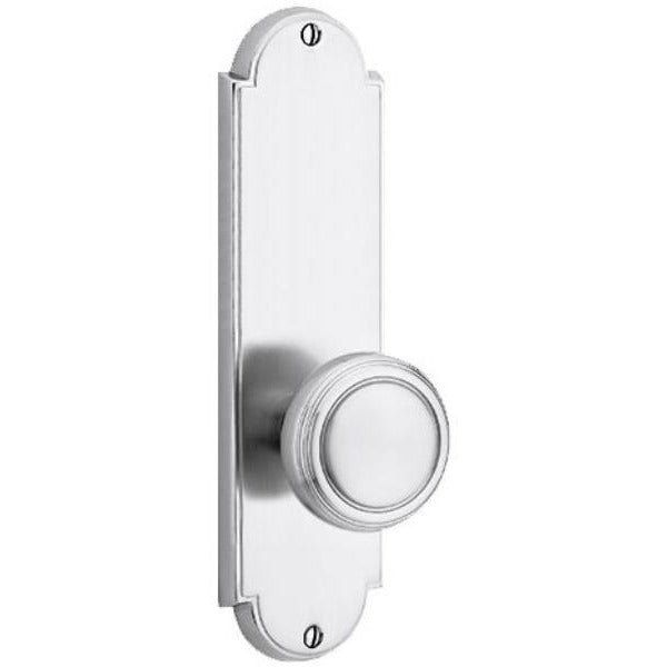 Emtek 8856 Delaware Series Dummy Entry Set Tall Backplate From the American Classic Collection. - Designer Entryway door locks access control intercoms home automation