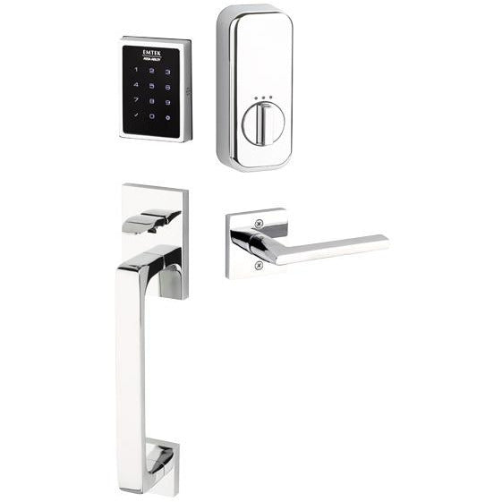 Emtek EMP0103 Electronic Keypad Handleset From the Brass Modern Collection. - Designer Entryway door locks access control intercoms home automation