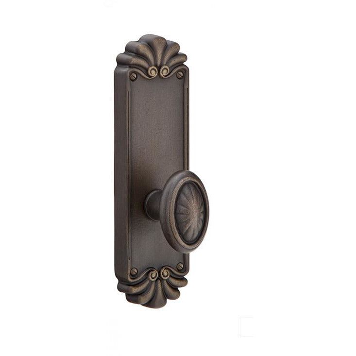 "-Emtek 6102 8-1/4"" Height #16 Style Sideplate Tuscany Bronze Passage Entry Set - Designer Entryway door locks access control intercoms home automation"