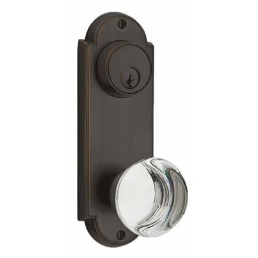 Emtek DC8166 Delaware Series Keyed Entry Set Tall Backplate. - Designer Entryway door locks access control intercoms home automation