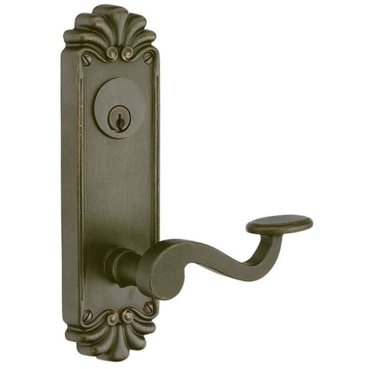 Emtek SC6020 Sideplate Tuscany Bronze SingleEntry Set. - Designer Entryway door locks access control intercoms home automation