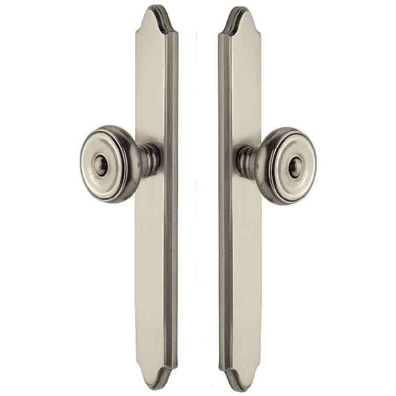 -Emtek 7046 11 Inch Stretto Concord Dummy Sideplate Entry Set from the Classic Brass Collection - Designer Entryway door locks access control intercoms home automation