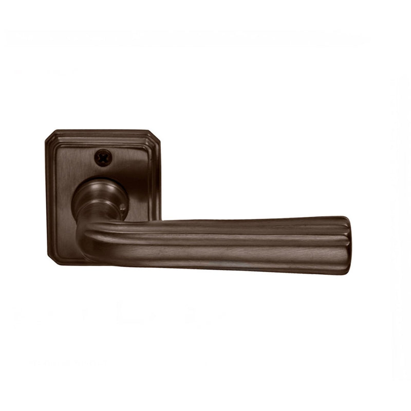 "Omnia 706/RTPA Passage Door Leverset with 1-5/8"" Wide Rectangular Rosettes from the Traditions Collection - Designer Entryway door locks access control intercoms home automation"