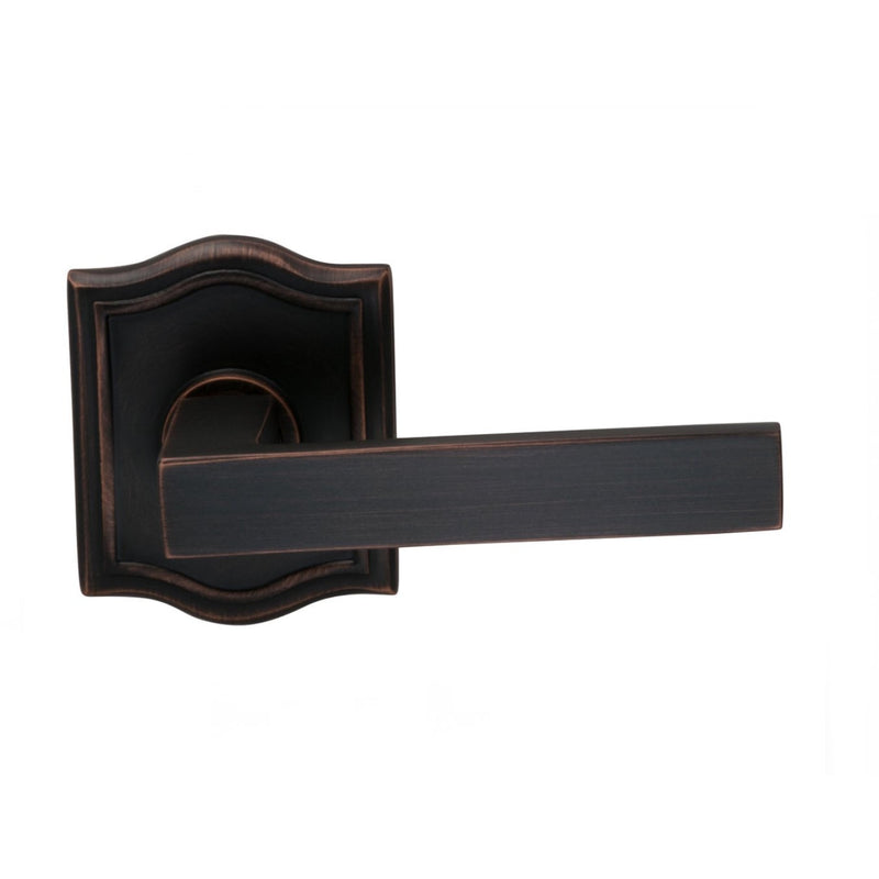 Omnia 930ARSD Square Single Dummy Door Lever with Arched Style Rose from the Prodigy Collection - Designer Entryway door locks access control intercoms home automation