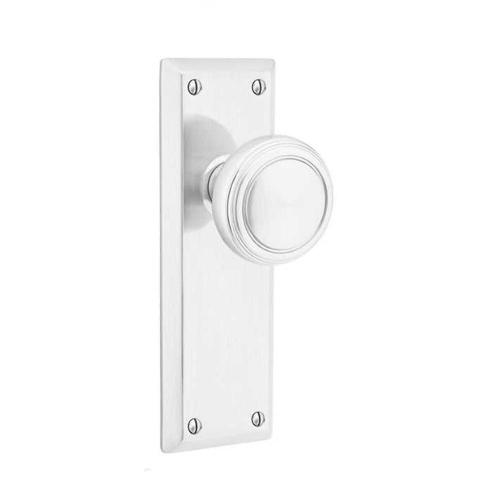 Emtek 8104 Quincy Sideplate Classic Brass Passage EntrySet. - Designer Entryway door locks access control intercoms home automation