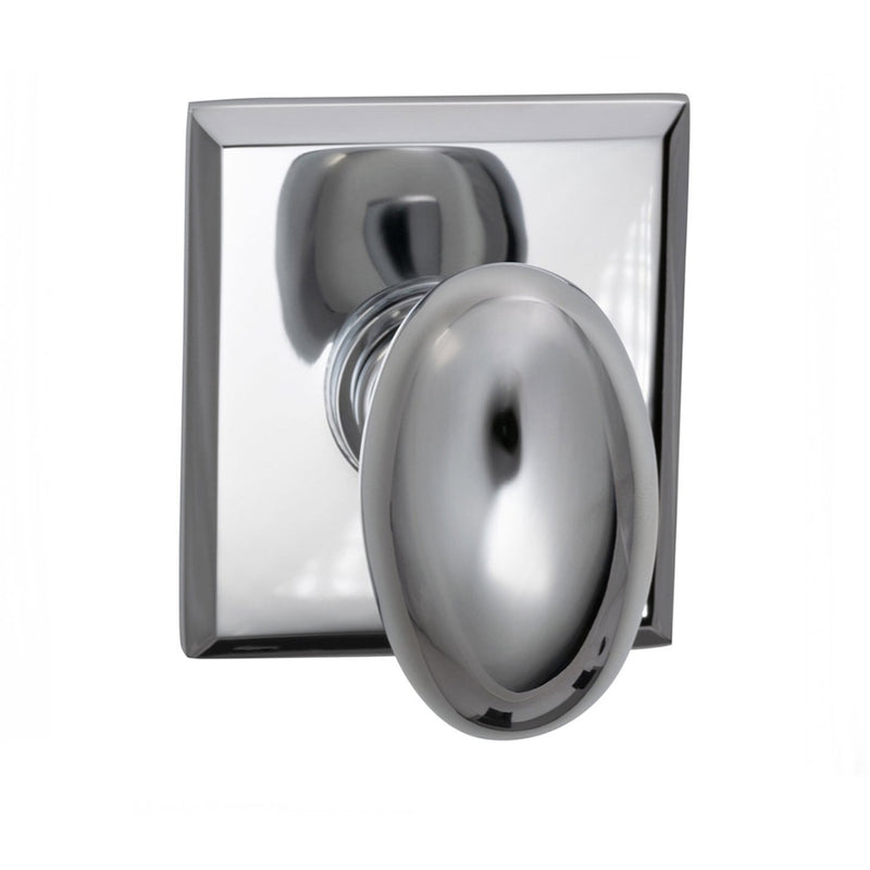 Omnia 434RTSD Single Dummy Door Knob with Egg Knob and Rectangular Rose from the Prodigy Collection - Designer Entryway door locks access control intercoms home automation