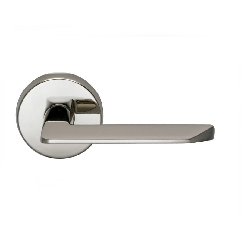 "Omnia 237SD Single Dummy Door Lever from the Latchset Levers Collection Featuring 2-9/16"" Round Modern Rosette - Designer Entryway door locks access control intercoms home automation"