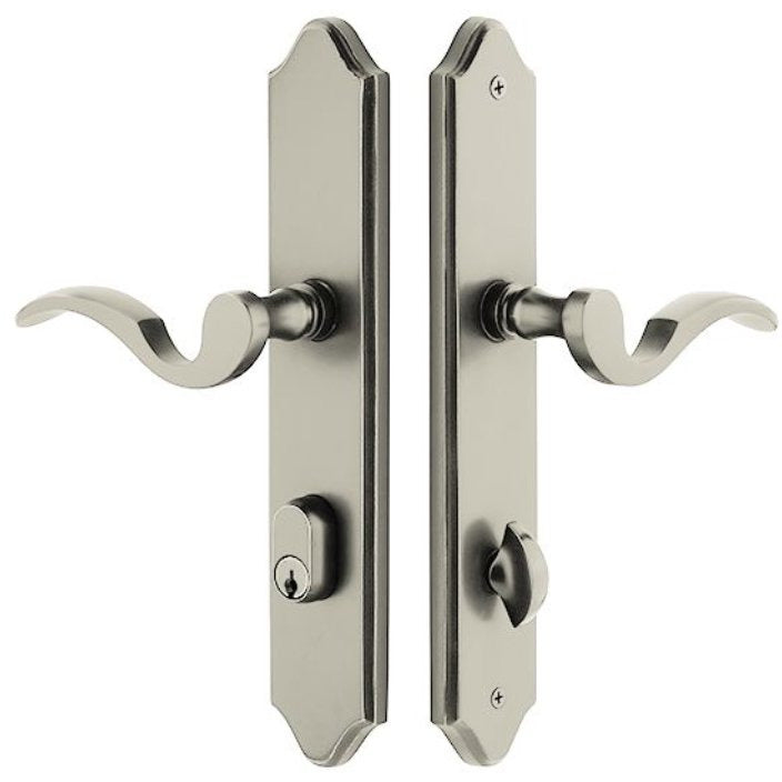 -Emtek 7042 10 Inch Stretto Concord Dummy Sideplate Entry Set with Dummy Cylinder from the Classic Brass Collection - Designer Entryway door locks access control intercoms home automation