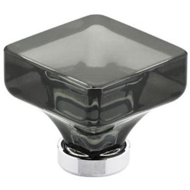 Emtek 86554 Lido 1-3/8 Inch Square Cabinet Knob from the Crystal And Porcelain Collection - Designer Entryway door locks access control intercoms home automation