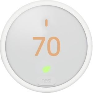 Nest Learning Thermostat E Frosted White Display WiFi App T4001ES. - Designer Entryway door locks access control intercoms home automation