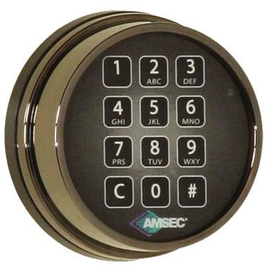 AMSEC ESL10XL digital safe lock BLACK Nickel FINISH REPLACES S&G 6120 AND LAGARD - Designer Entryway door locks access control intercoms home automation