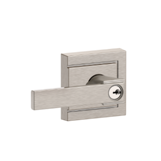 Schlage F51A-NBK-ULD Northbrook Keyed Entry Single Cylinder Door Lever with Upland Trim - Designer Entryway door locks access control intercoms home automation