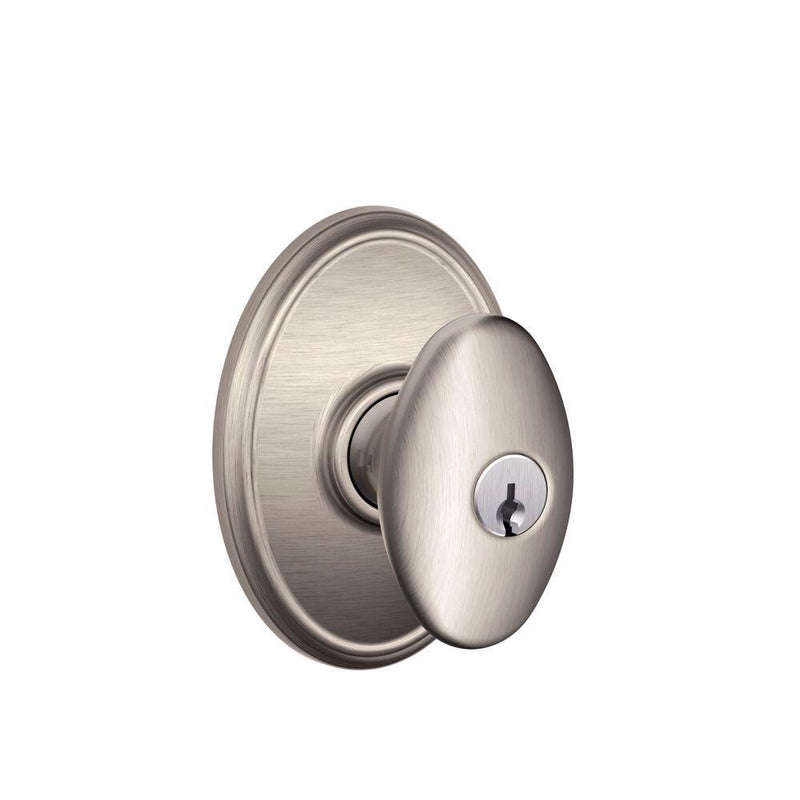 Schlage Decorative Collection F51SIEWKF619 Siena Wakefield Entrance Satin Nickel - Designer Entryway door locks access control intercoms home automation