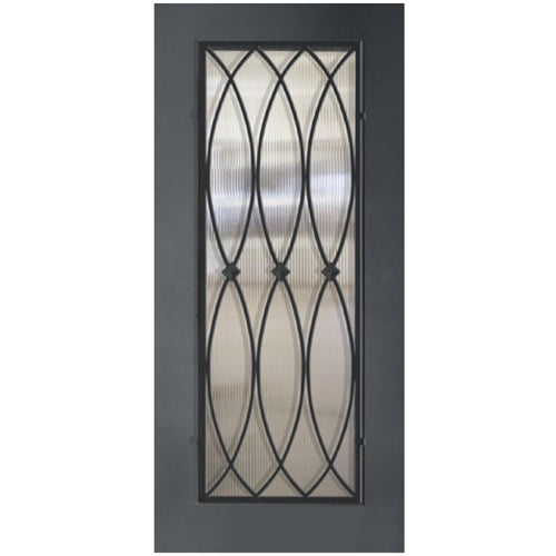 "GlassCraft 1 Panel Full Lite La Salle • 3'0"" x 6 ́8 ̋ Tall ThermaPlus Pre-Hung - Designer Entryway door locks access control intercoms home automation"
