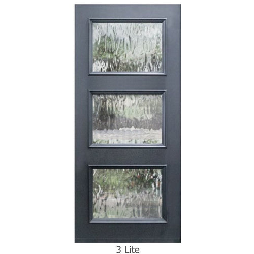 "GlassCraft Panel/Lite Continental Collection •3'0"" x 6'8 ̋ Tall 3 Lite Pre-finished & Pre-Hung - Designer Entryway door locks access control intercoms home automation"
