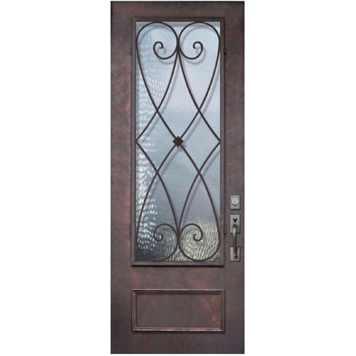 "GlassCraft 1 Panel 3/4 Lite Charleston® • 3'0"" x 8 ́0 ̋ Tall ThermaPlus Pre-Hung - Designer Entryway door locks access control intercoms home automation"
