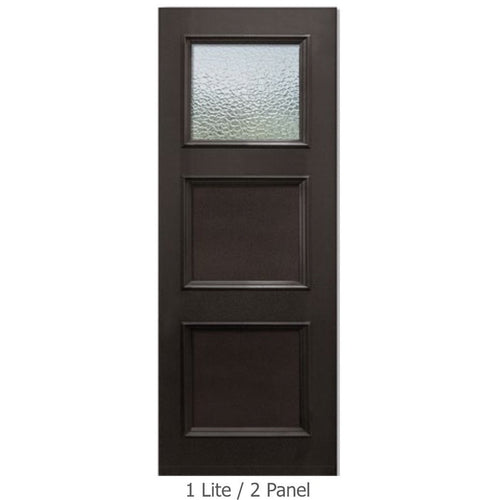 "GlassCraft Panel/Lite Continental Collection •3'0"" x 6'8 ̋ Tall 1 Lite Pre-finished & Pre-Hung - Designer Entryway door locks access control intercoms home automation"