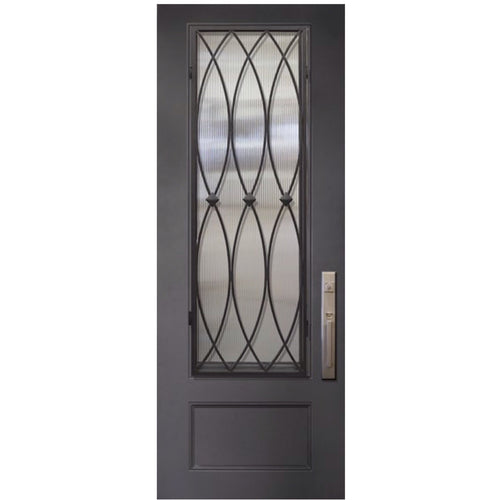 "GlassCraft 1 Panel 3/4 Lite La Salle® • 3'0"" x 8 ́0 ̋ Tall ThermaPlus Pre-Hung - Designer Entryway door locks access control intercoms home automation"