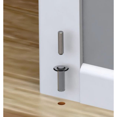 Trimco Fantom Barn Door Innovative Magnetic Door Stop - Designer Entryway door locks access control intercoms home automation