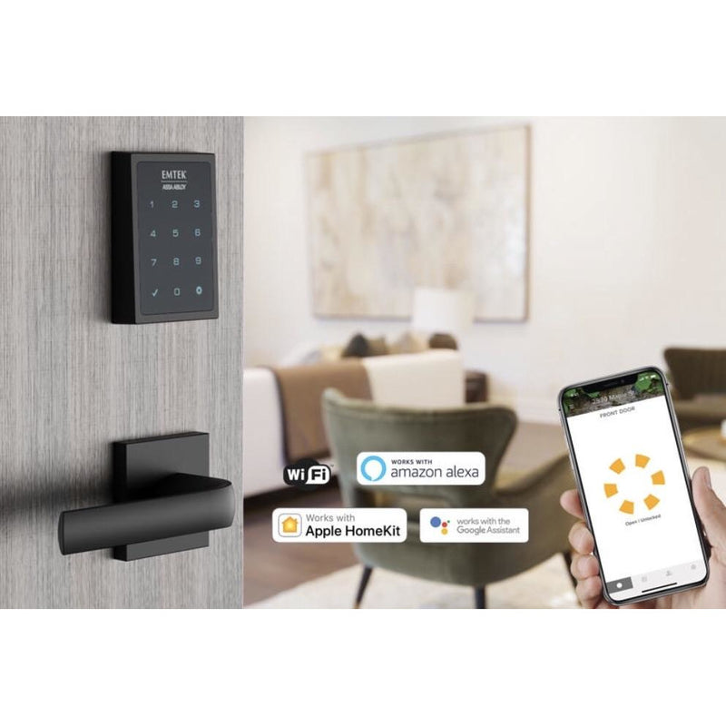 Emtek EMP1101 EMPowered Touchscreen Keypad SMART Deadbolt-Connected by August. - Designer Entryway door locks access control intercoms home automation