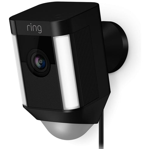 Digital Ring Spotlight Cam Wired Outdoor Rectangle Security Camera Home Black - Designer Entryway door locks access control intercoms home automation