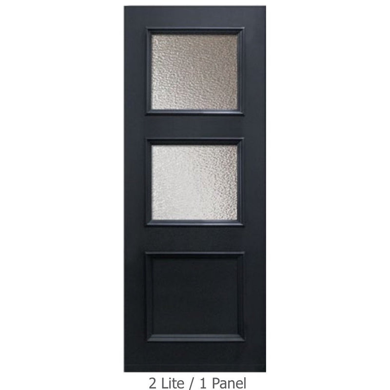 "GlassCraft Panel/Lite Continental Collection •3'0"" x 6'8 ̋ Tall 2 Lite Pre-finished & Pre-Hung - Designer Entryway door locks access control intercoms home automation"