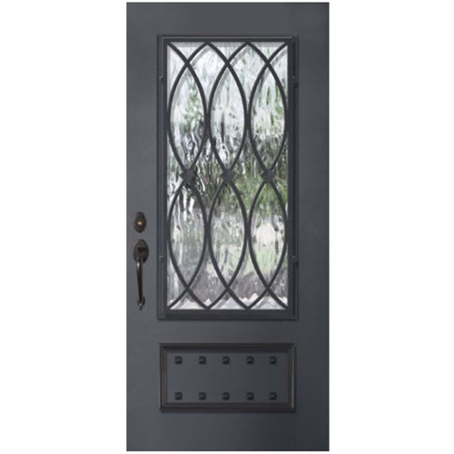"GlassCraft 1 Panel 3/4 Lite La Salle • 3'0"" x 6 ́8 ̋ Tall ThermaPlus Pre-Hung - Designer Entryway door locks access control intercoms home automation"