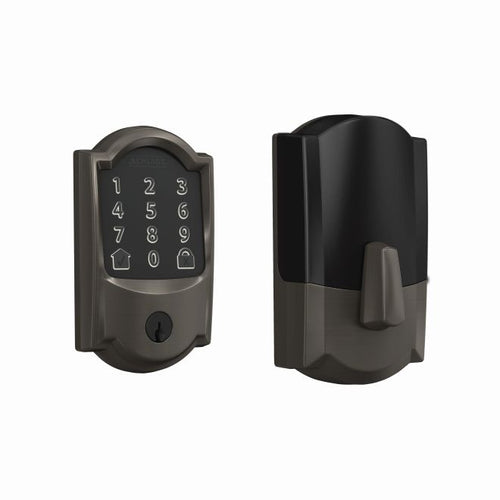 Schlage Encode Smart WiFi Deadbolt with Camelot Trim - Designer Entryway door locks access control intercoms home automation