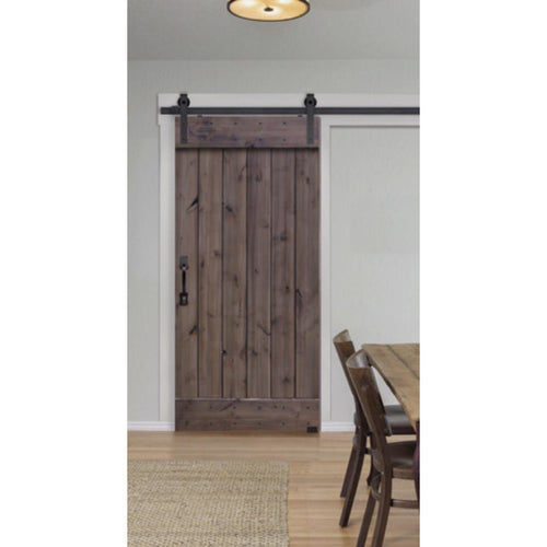 BarnCraft ( Slade ) model, rolling barn-door hardware by Glasscraft. - Designer Entryway door locks access control intercoms home automation