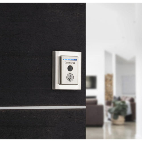 Kwikset Halo Touch Contemporary Fingerprint Wi-Fi Electronic Smart Lock Deadbolt W/ SmartKey - Designer Entryway door locks access control intercoms home automation