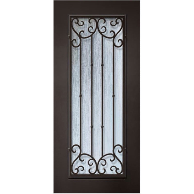 "GlassCraft 1 Panel Full Lite Valencia• 3'0"" x 6 ́8 ̋ Tall ThermaPlus Pre-Hung - Designer Entryway door locks access control intercoms home automation"