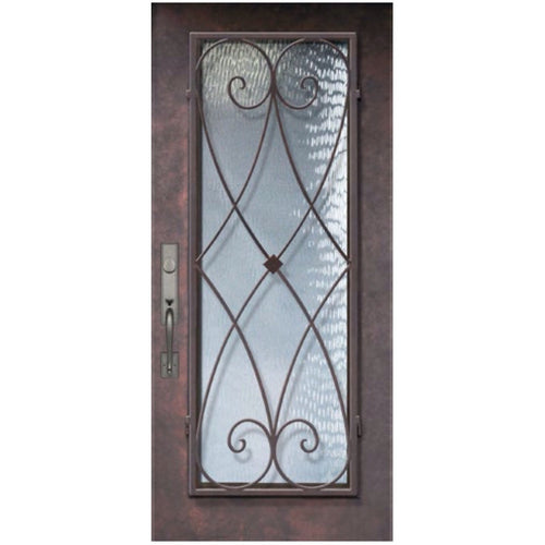 "GlassCraft 1 Panel Full Lite Charleston® • 3'0"" x 6 ́8 ̋ Tall ThermaPlus Pre-Hung - Designer Entryway door locks access control intercoms home automation"