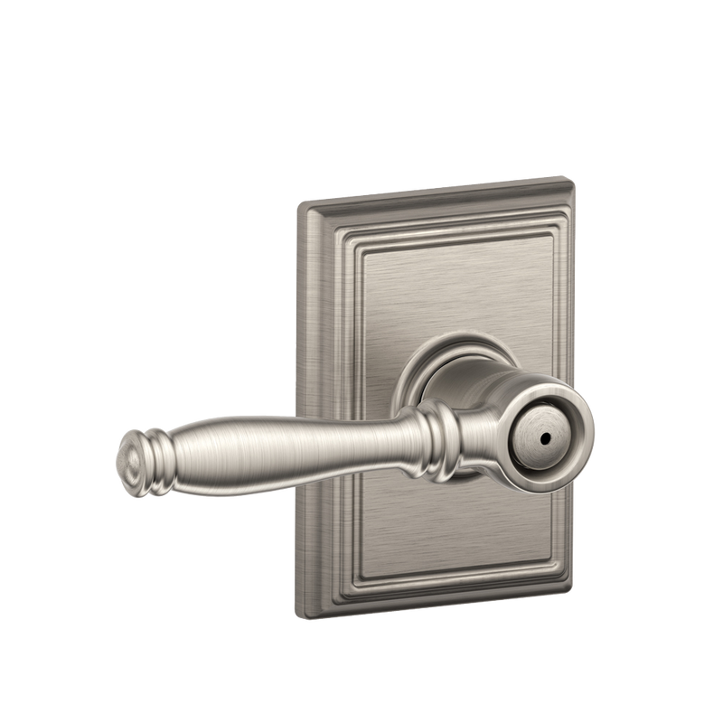 Schlage Addison Collection Birmingham Bed and Bath Lever F40BIR ADD privacy - Designer Entryway door locks access control intercoms home automation