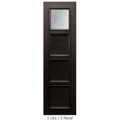 "GlassCraft Panel/Lite Continental Collection •3'0"" x 8 ́0 ̋ Tall ThermaPlus® Pre-finished & Pre-Hung 3'0"" x 8'0"" 1 Lite - Designer Entryway door locks access control intercoms home automation"