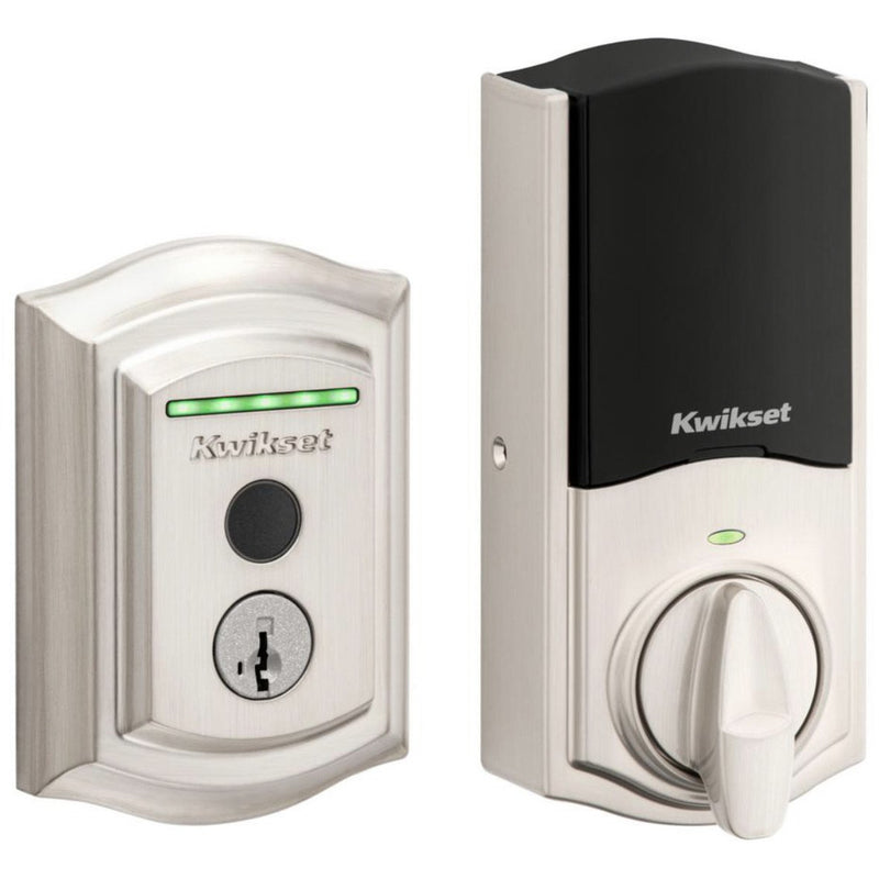 Kwikset Halo Touch Tradidional Fingerprint Wi-Fi Electronic Smart Lock Deadbolt W/ SmartKey - Designer Entryway door locks access control intercoms home automation