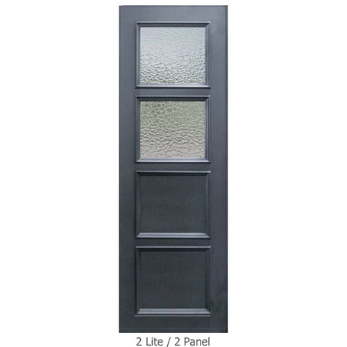 "GlassCraft Panel/Lite Continental Collection •3'0"" x 8 ́0 ̋ Tall Pre-finished & Pre-Hung 2 Lite - Designer Entryway door locks access control intercoms home automation"